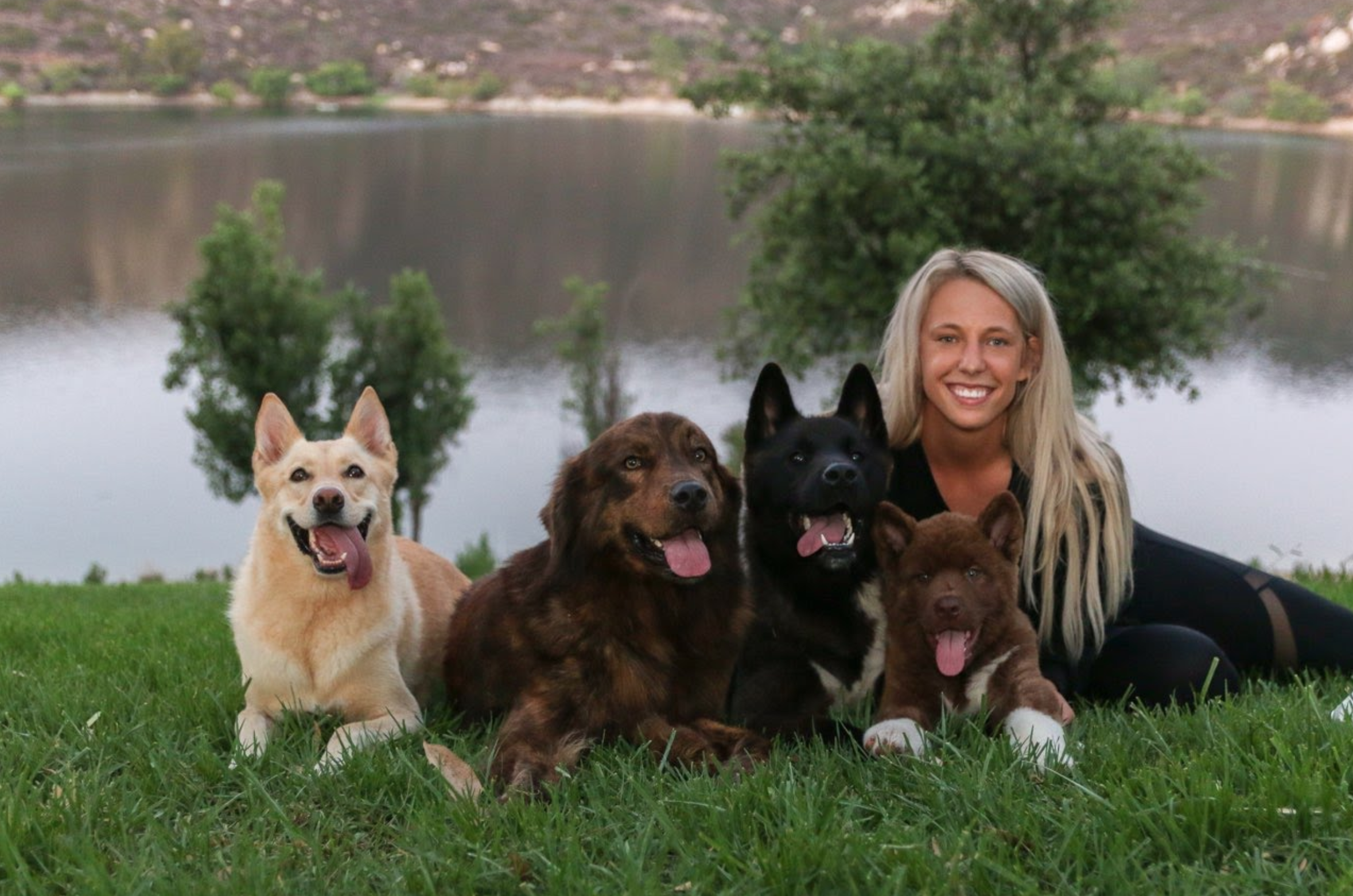 Kaelin and her pups