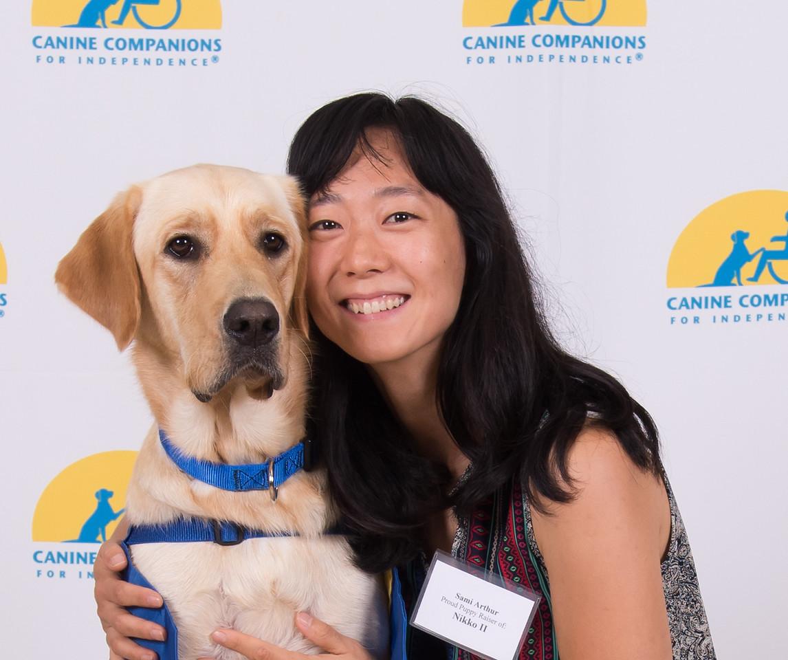 Sami Arthur with her Canine Companion